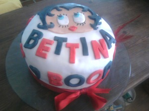 Tarta fondant de Betty Boop
