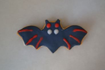 Galleta fondant de murciélago para Hallloween