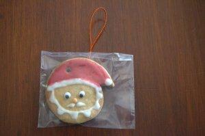 Galleta de Papa Noel decorada con glasa