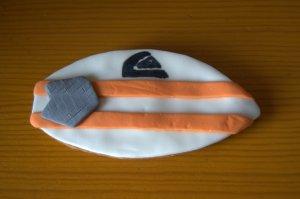Galleta fondant de tabla de surf para Sevilla