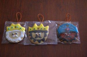 Galletas de los Reyes Magos decoradas con glasa