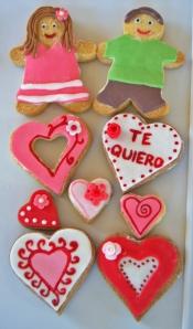 Galletas de fondant para San Valentín