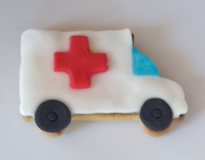 Galleta fondant de ambulancia