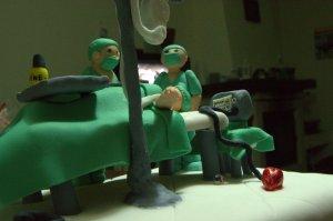 Tarta fondant de médico