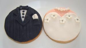Galletas fondant para boda
