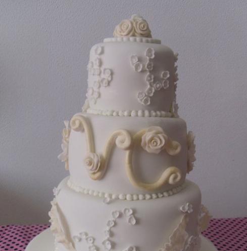 Tarta de boda inspirada en la tarta de Kate y Guillermo