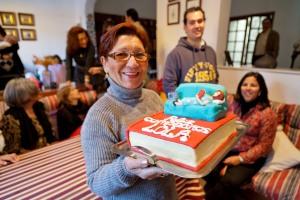 La homenajeada y la tarta