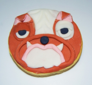 Galleta fondant de bulldog