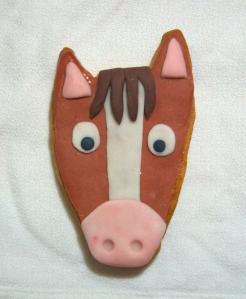 Galleta fondant de caballo