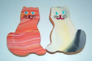 Galletas fondant de gatos