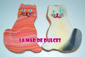 Galleta fondant de gatos