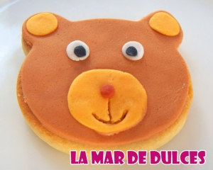 Galleta fondant de oso