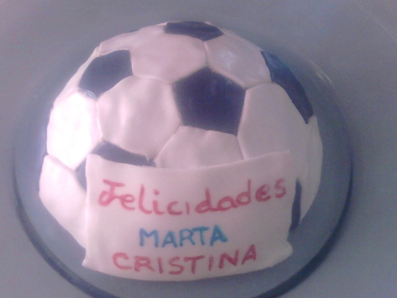 Tarta Fondant Balon Futbol Dulces Artesanales Sevilla Comida