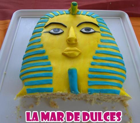 Tarta fondant de Tutankamon
