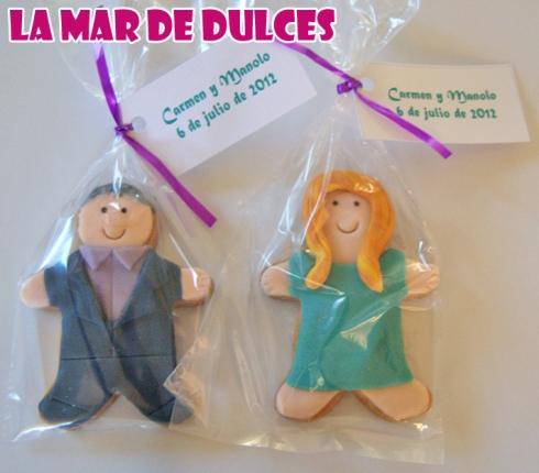 Galletas fondant de pareja para boda Chiclana