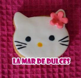 Galleta fondant de Hello Kitty