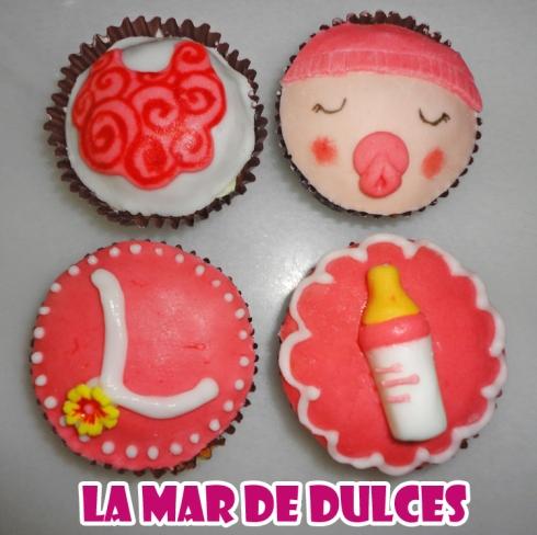 Cupcakes de fondant y glasa para bautizo en Paterna de Rivera Cádiz