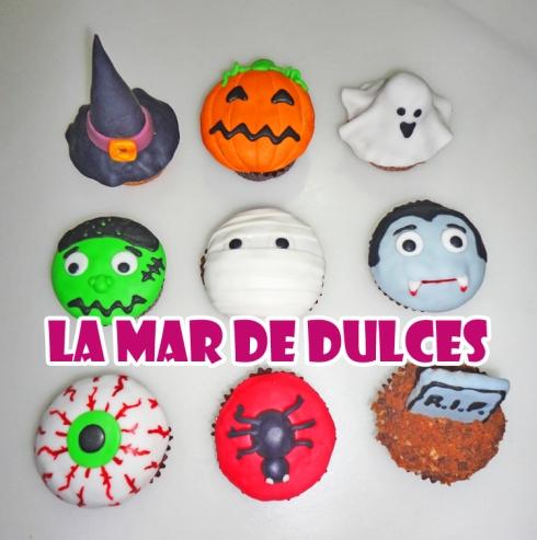 Cupcakes de fondant para Halloween