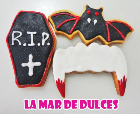 Galletas decoradas con glasa y fondant para Halloween