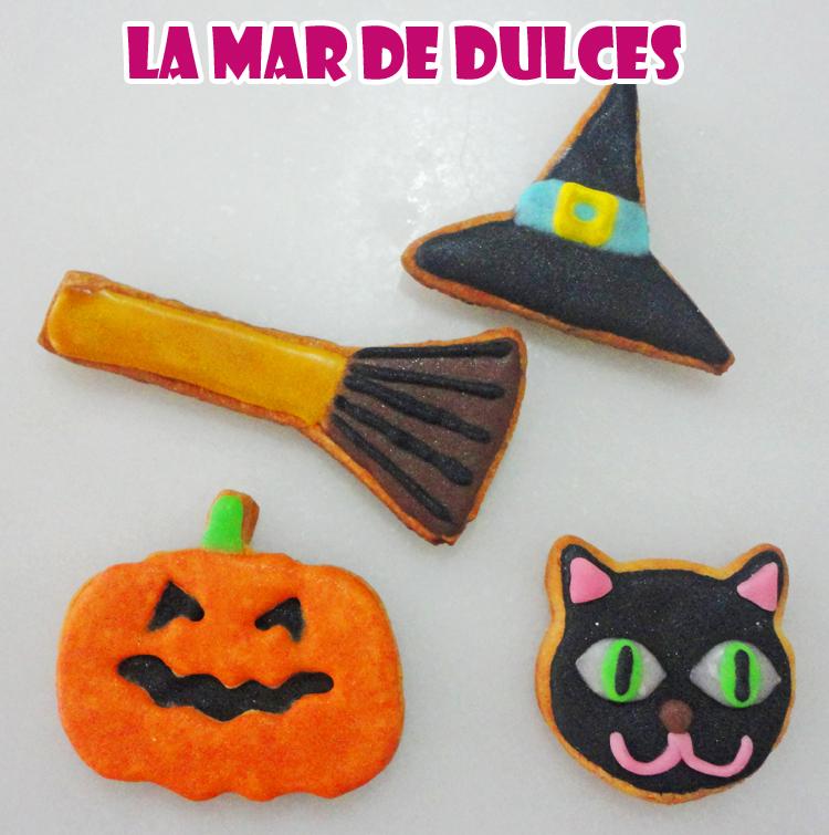 Galletas decoradas con glasa y fondant para Halloween