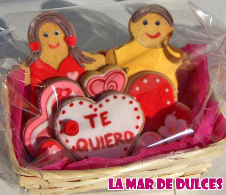Galletas fondant para San Valentín