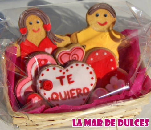 Galletas decoradas para San Valentín