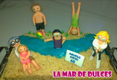 Tarta fondant de playa Sevilla
