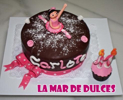 Tarta fondant de bailarina Sevilla
