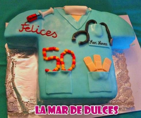 Tarta fondant de pijama de enfermera Sevilla