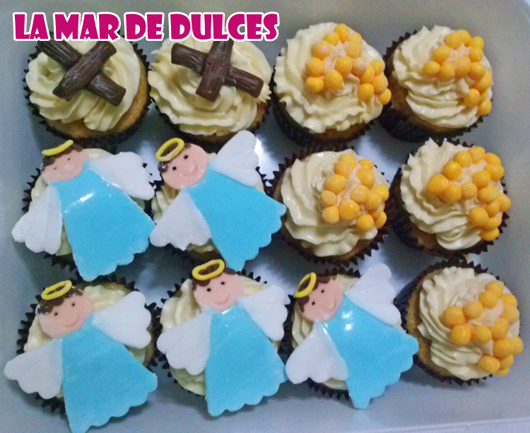 Cupcakes de comunión sin huevo, gluten ni lactosa Sevilla
