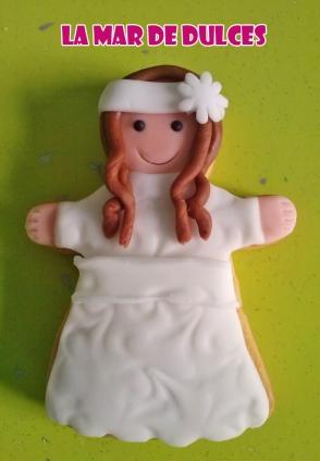 Galletas personalizadas de niña para Comunión Sevilla