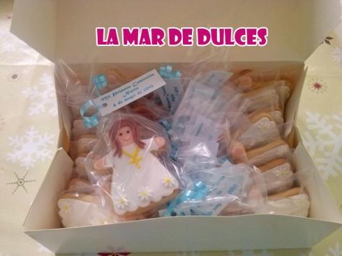 Galletas decoradas de niña para Comunión Sevilla