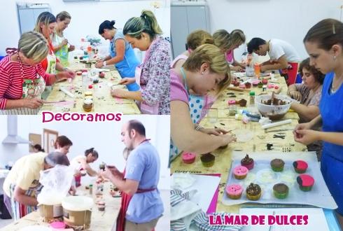 Decorando los cupcakes