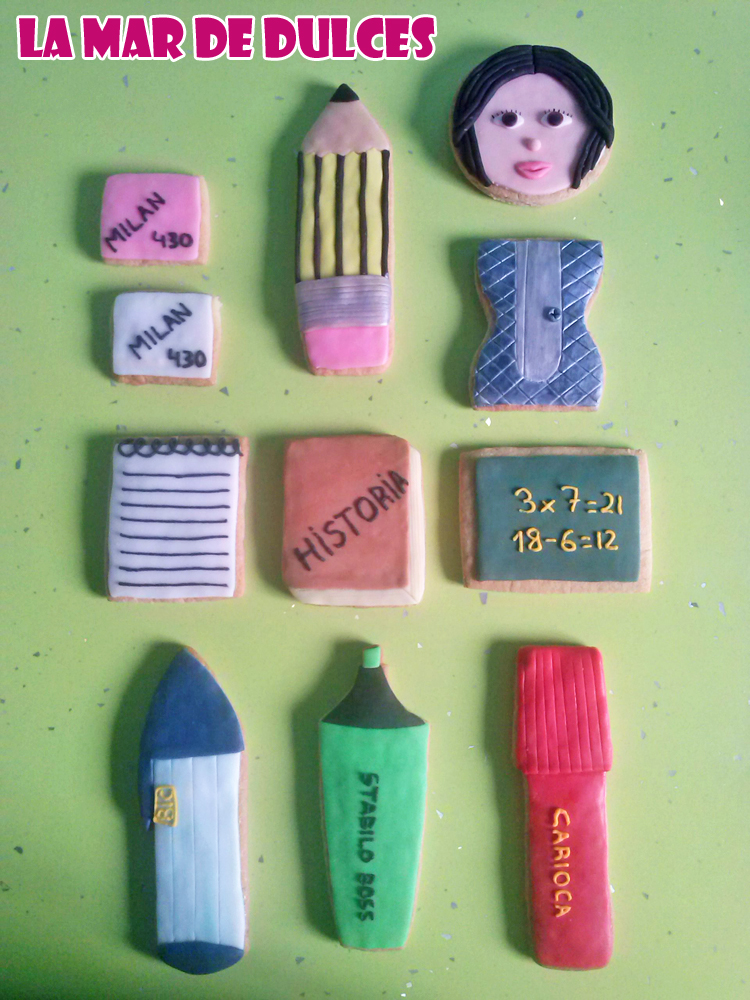 Galletas decoradas para maestra Sevilla