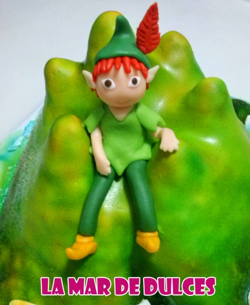 Tarta fondant de Peter Pan en la isla Sevilla
