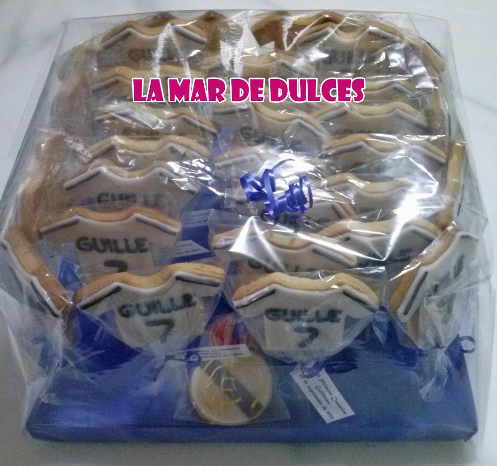 Galletas de camiseta del Real Madrid para Comunión en Sevilla