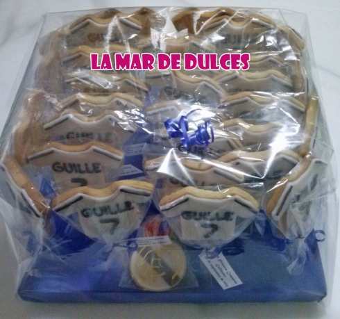Galletas decoradas camiseta Real Madrid Sevilla