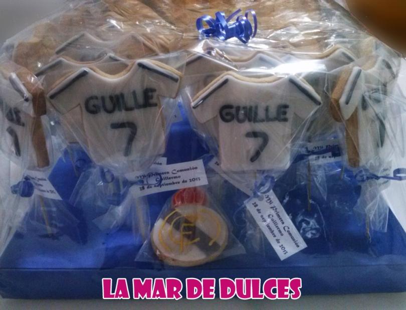 Galletas decoradas camiseta Real Madrid Sevilla