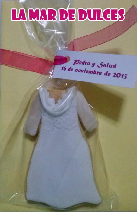 Galleta de vestido de novia Sevilla