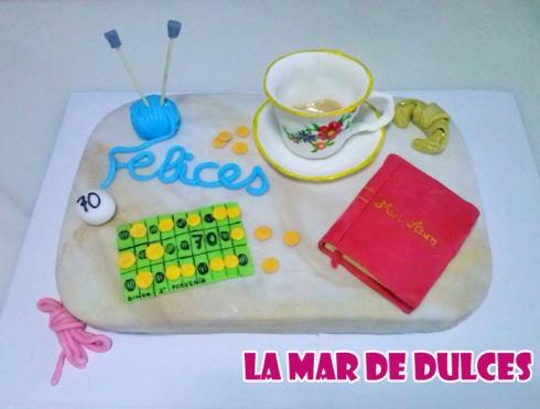 Tarta fondant de taza de té lectura bingo Sevilla