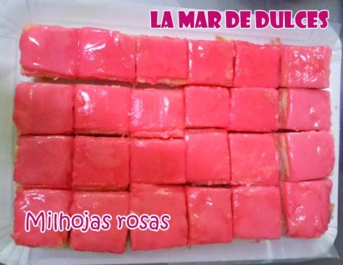 Milhojas rosas