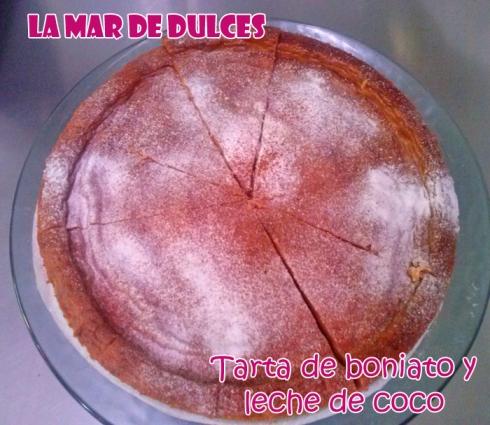 Tarta de boniato y leche de coco