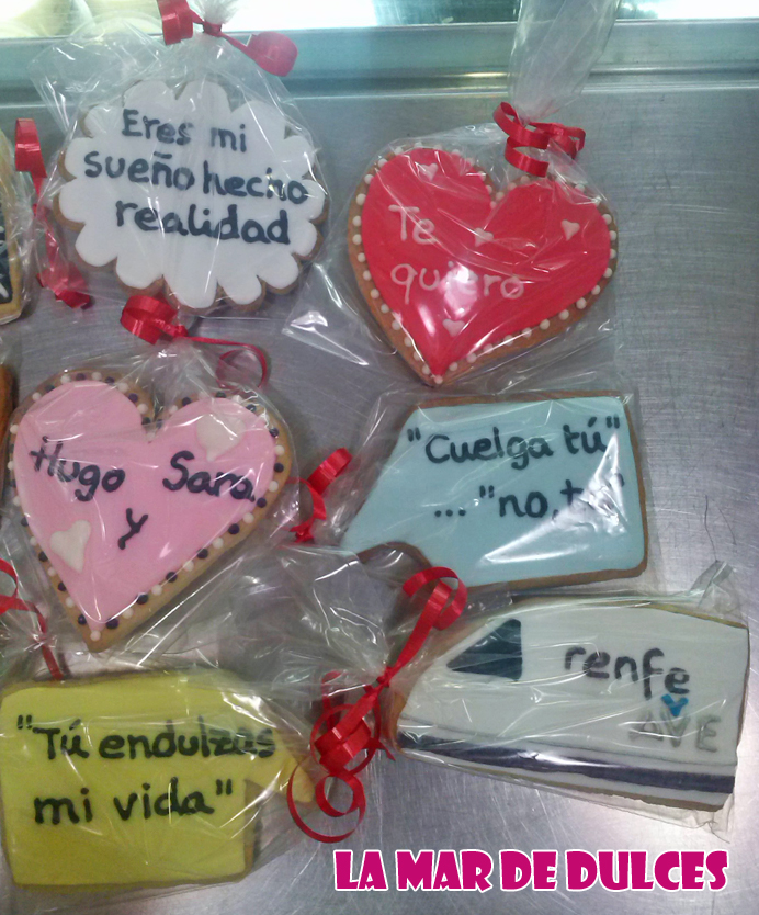 Galletas de bocadillos con mensajes