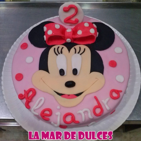Tarta fondant de Minnie Mouse Sevilla