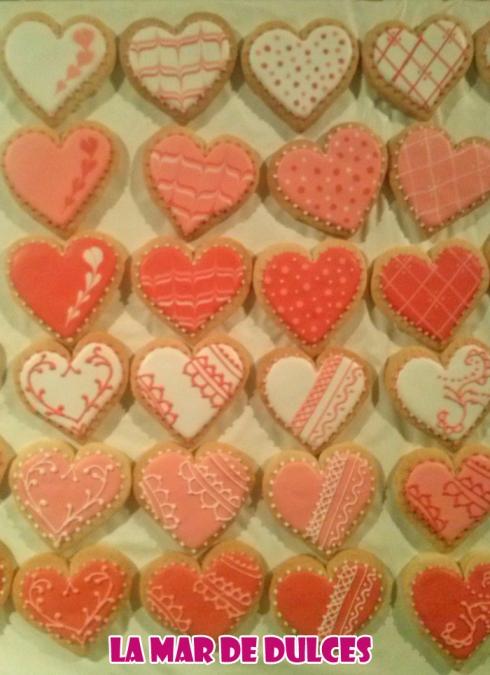 Galletas decoradas de corazones para boda Sevilla