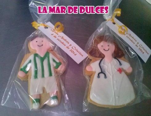Galletas de jugador del Betis y doctora