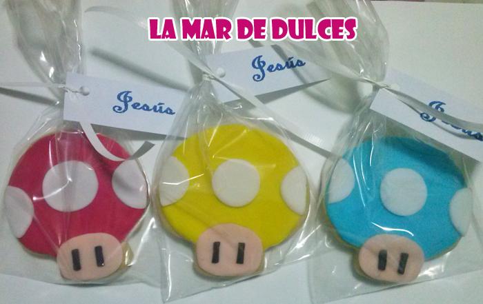 Galletas decoradas de Mario Bros