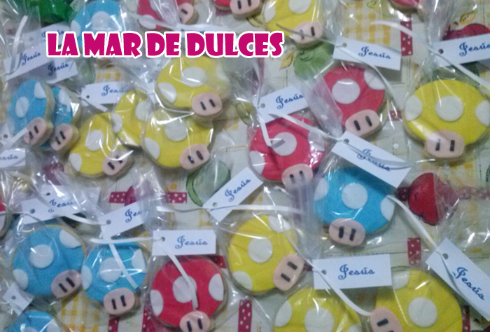 Galletas decoradas de Mario Bros