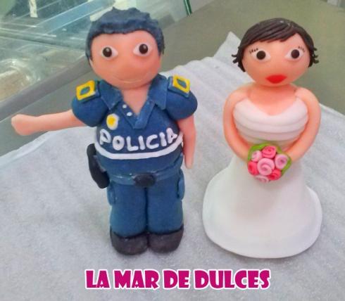 Muñecos de fondant de novios para boda Sevilla