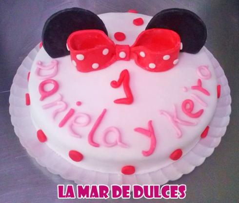 Tarta fondant de las orejas de Minnie Mouse Sevilla